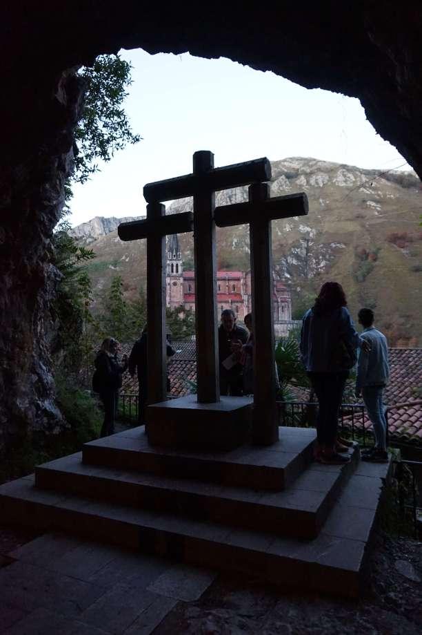 vista desde interior cueva Covadonga