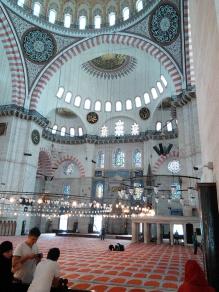 Interior Süleymaniye Mezquita