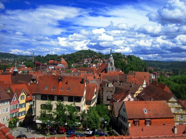vistas desde el Hohentübingen Schloss