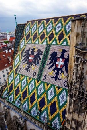 En la torre catedral Viena