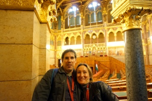 En cámara alta parlamento Budapest