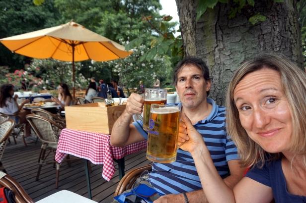 Cerveza en Biergarten