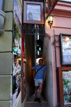 Calle estrecha Praga