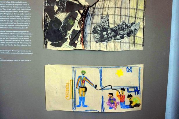 dibujos niños Terezin Sinagoga Pinkas