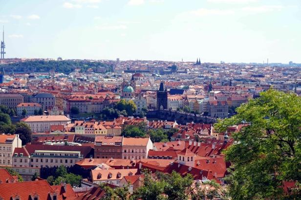 Vistas de Praga desde el Castillo
