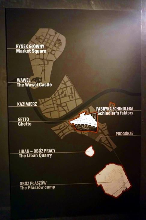 mapa gueto Judío Cracovia
